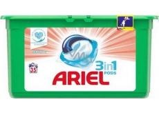 Ariel 3v1 Sensitive gélové kapsule na pranie bielizne 35 kusov 931 g