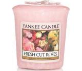 Yankee Candle Fresh Cut Roses - Čerstvo narezané ruža vonná sviečka votívny 49 g