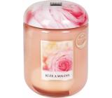 Heart & Home Ruže a maliny Sójová vonná sviečka veľká horí až 70 hodín 340 g
