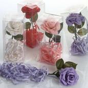NeoCos Ruže s mydlovými lupeňmi biela 40 g, darčekové balenie