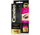 Delia Cosmetics Cameley Krémová profesionálna farba na obočie, bez amoniaku 1.0 Black - Čierna 15 ml