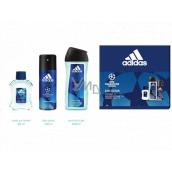 Adidas UEFA Champions League Dare Edition VI voda po holení 50 ml + sprchový gél 250 ml + dezodorant sprej 150 ml, kozmetická sada
