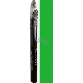 Princessa Fashion Best Colour vodeodolná tieňovacie ceruzka na oči 09 Emerald Green sa trblietkami 3,5 g