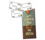 Bohemia Gifts Karty splnených prianí pre dedka 20 kusov kariet