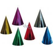 Klobúčik karnevalový hologramový rôzne farby 6 kusov v balení