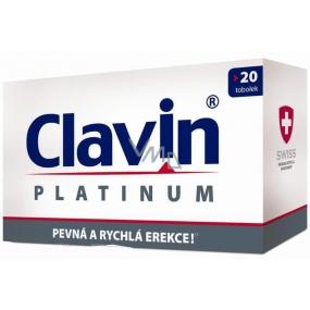 Clavin Platinum pevná a rýchla erekcie kapsuly 20 kusov