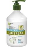 O Herbal Delicate Ľan čistiace mlieko pre intímnu hygienu 500 ml