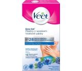 Veet Easy-Gel Podpazušie depilačné voskové pásky pre citlivú pokožku 16 kusov