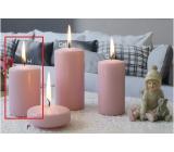 Lima Ice pastel sviečka ružová valec 60 x 90 mm 1 kus