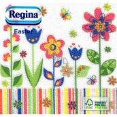Regina Papierové obrúsky 1 vrstvové 33 x 33 cm 20 kusov Velikonočví Farebné kvety