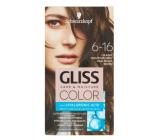 Schwarzkopf Gliss Color farba na vlasy 6-16 Chladný perleťový hnedý 2 x 60 ml