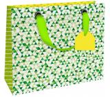 Nekupto Darčeková papierová taška luxusné 18 x 16 x 8 cm Zelená 1839 LIS