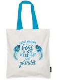 Nekupto Neplastuj Nákupná taška bavlna, Urob si dnešok boží 38 x 40 x 10 cm