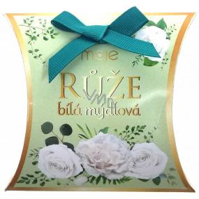 NeoCos Ruže biela mydlová darčekové voňavé toaletné mydlo 30 g