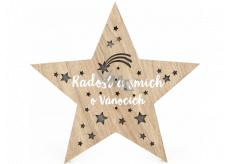 Albi Svetelná dekorácia vianočný drevená - Hviezda