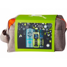Fa Men Energy Boost sprchový gel 250 ml + dezodorant sprej 150 ml + Syoss Men Clean & Cool šampón na vlasy 440 ml + kozmetická taška, kozmetická sada