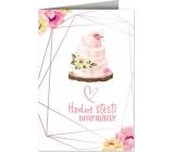 Nekupto Prianie k svadbe Svadobná torta 115 x 170 mm 3609 J