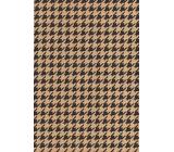 Ditipo Darčekový baliaci papier 70 x 200 cm KRAFT Čierne ornamenty