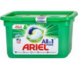 Ariel All in 1 Pods Mountain Spring gélové kapsule na pranie bieleho a svetlého prádla 13 kusov 327,6 g