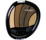 Deborah Milano Perfect Smokey Eye Palette paletka 5ti očních stínů 05 Kaki 5 g