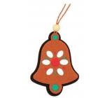 Perníčky z filcu farebné, závesné 9cm zvonček