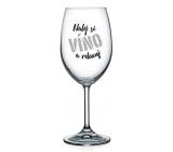 Nekupto Na Zdravie poháre na víno Nalej si víno a relaxuj 440 ml