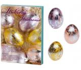 Sada k dekorovanie vajíčok striebrenie