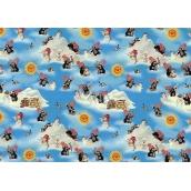 Nekupto Baliaci papier vianočné pre deti Krtekček svetlo modrá 70 x 200 cm 1 role