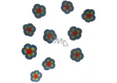 Professional Ozdoby na nechty kvety modro-červené 132 1 balenie
