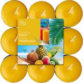 Bolsius Aromatic Tropical Fruit - Tropické ovocie vonné čajové sviečky 18 kusov, doba horenia 4 hodiny