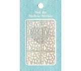 Nail Accessory Hollow Sticker šablónky na nechty multifarebná vitráž 1 aršík 129