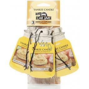 Yankee Candle Vanilla Cupcake - Vanilkový košíček Classic vonná visačka do auta papierová sada 12 gx 3 kusy