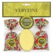 Le Chatelard Verbena a citron vonný pytlíček 2 x 18 g + Marselle toaletní mýdlo oválné 100 g, kosmetická sada