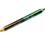 Princessa Davis Eye Double Colour očné tiene v ceruzke 021 svetlozelená a zlatá 6 g