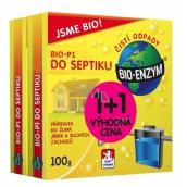 Bio-Enzým Bio-P1 biologický prípravok k likvidácii organických nečistôt do septiku, žumpy, suchého záchodu 100g + 100g Výhodná cena