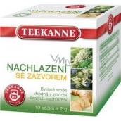 Teekanne Prechladnutie sa zázvorom bylinný čaj s liečivým účinkom pre v období častých prechladnutia nálevové sáčky 10 x 2 g