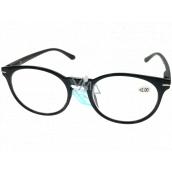 Berkeley Čítacie dioptrické okuliare +2,0 plast čierne, okrúhle sklá 1 kus MC2171