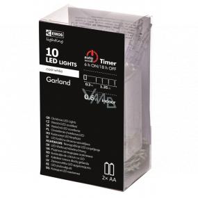 Emos Cencúle 10 cm svietiace reťaz 1,35 m, 10 LED studená biela