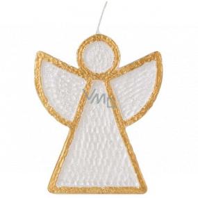 Emóciám Anjel sviečka bielo-zlatá 95 x 30 x 120 mm