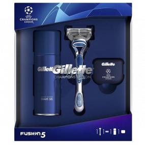 Gillette Fusion5 holiaci strojček + náhradné hlavice 1 kus + gél na holenie 75 ml + krytka, kozmetická sada