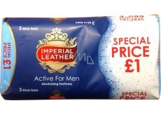 Cussons Imperial Active for Men toaletní mýdlo 3 x 100 g