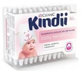 Cleanic Kindii Baby Sensitive bavlněné tyčinky pro děti 60 kusů
