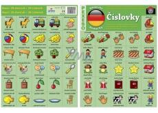 Ditipo Jazyková pexeso Číslovky nemčina 297 x 222 mm