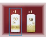 Lima Jubilejní 50 let svíčka Zlatá svatba Motiv A, 70 x 150 mm 1 kus
