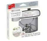 Yankee Candle Fluffy Towels - Nadýchané osušky vôňa do auta kovová strieborná visačka Charming Scents set Square 13 x 15 cm, 90 g
