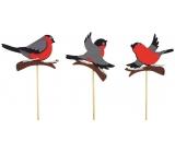 Ptáček filcový 8 cm + špejle