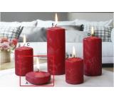 Lima Ľadová sviečka červená plávajúce šošovica 70 x 30 mm 1 kus