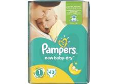 Pampers New Baby Dry 1 Newborn 2-5 kg jednorazové plienky 43 kusov