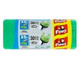 Fino Color Sáčky do odpadkového koša s ušami zelený 35 litrov, 49 x 60 cm, 8 mikrometrov, 30 kusov