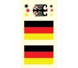 Arch Tetovací obtisky na obličej i tělo Německá vlajka 3 motiv